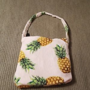 Pineapple beach towel in a bag